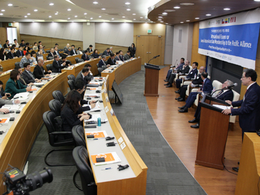"On May 5, the international forum on Korea's future associate membership to the Pacific Alliance ""Perspectives and Opportunities,"" was held at the 600th Anniversary Hall of Sungkyunkwan University."